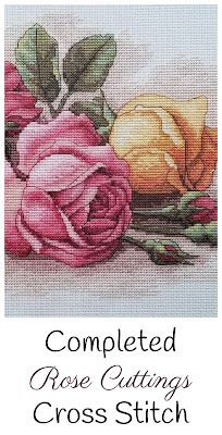Completed Rose Cuttings Cross Stitch Project