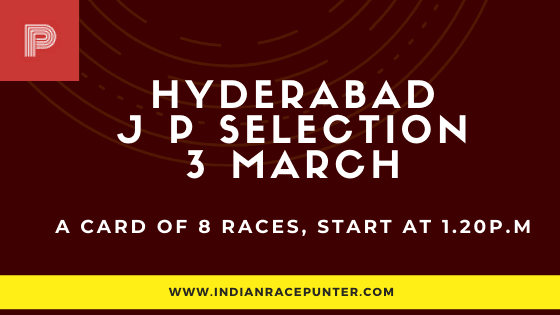 Hyderabad Jackpot Selections 3 March
