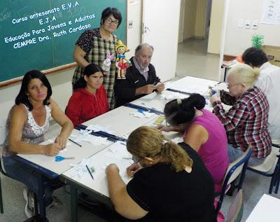 E.J.A Educação Para Jovens e Adultos  Curso artesanato E.V.A