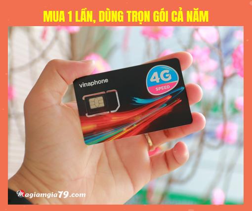 Sim 4G Vinaphone trọn gói 1 năm giá bao nhiêu sim
