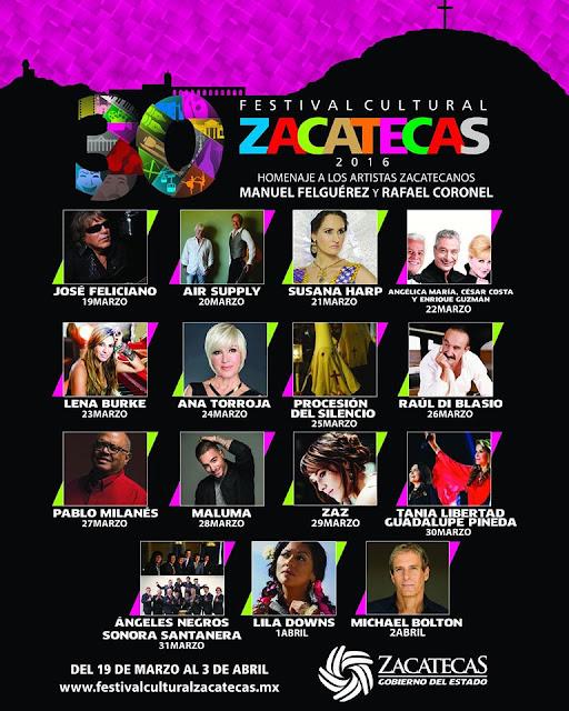 festival cultural zacatecas 2016