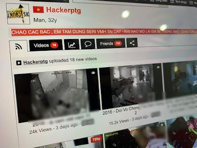 Tài khoản này chuyên tải lên các clip quay trộm từ camera giám sát.