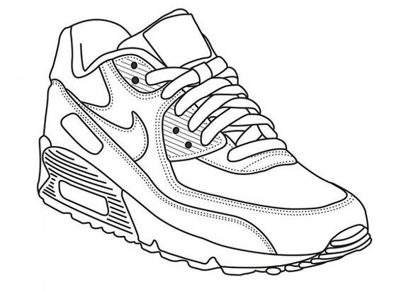 Tranh tô màu giày thể thao dễ thương