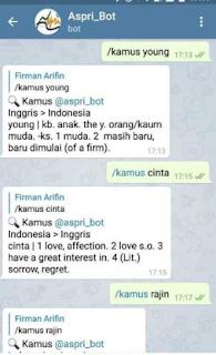 Cara Menggunakan Bot Telegram Bahasa Inggris Mudah
