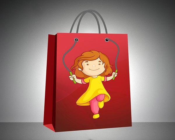 Desain Paper Bag/ Tas Belanja anak-anak