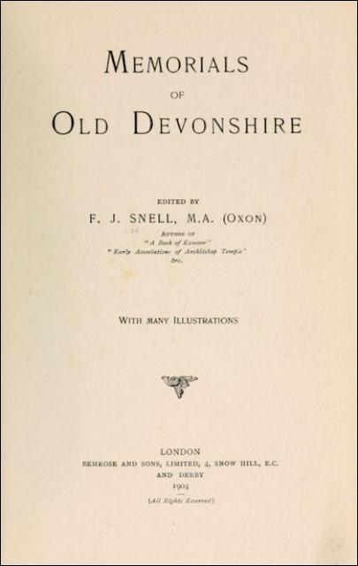 Memorials of Old Devonshire (Frederick John Snell, 1904)