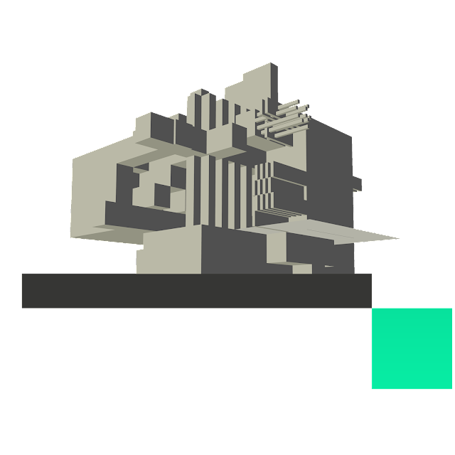 Brutalism, Jim Keaton, Structured Art © 2019-2020 Gardner Keaton Inc