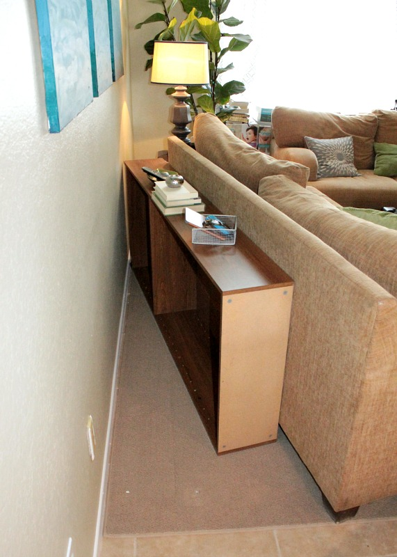 Bookcases Behind A Sofa - Home Design Elements
