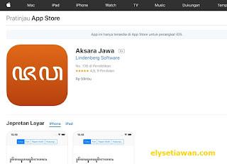 aplikasi aksara jawa untuk ios atau apple