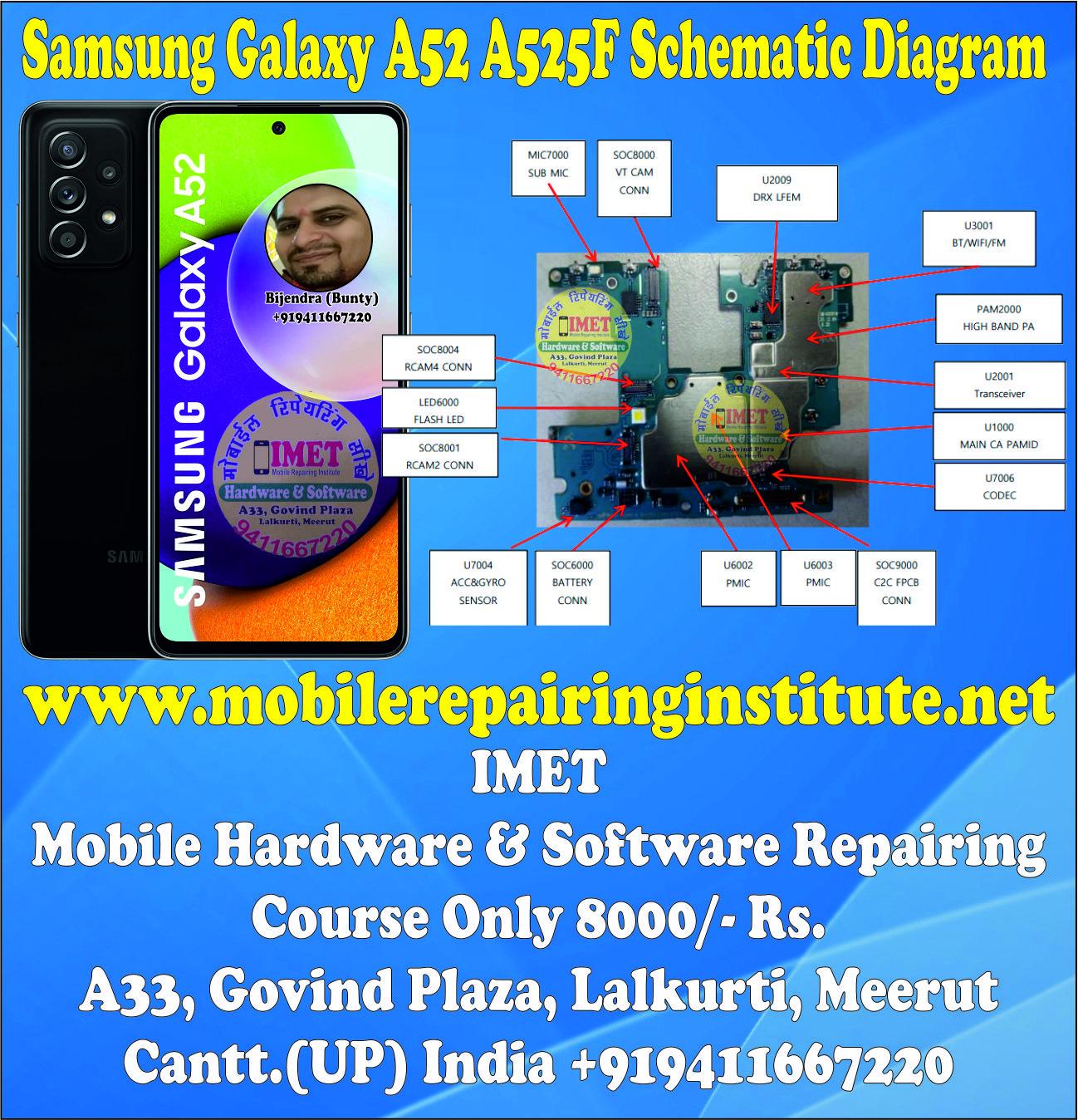 Samsung Galaxy A52 A525F Schematic Diagram – Service Manual Download