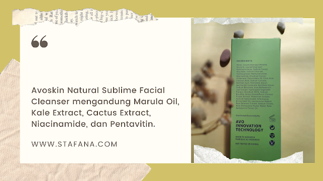 Avoskin Natural Sublime Facial Cleanser