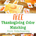 Fall Harvest and Thanksgiving Color Match-Up