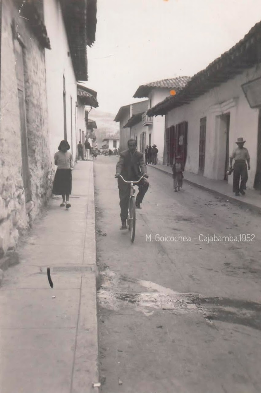 Fotografía del jr. Grau - Cajabamba 1952