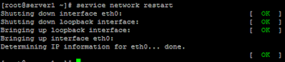 service network restart