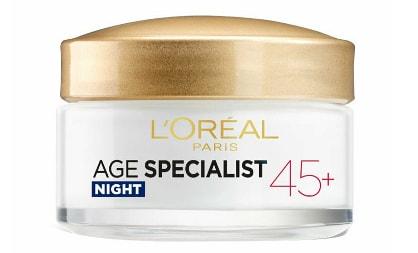 Crema antirid pentru fata L'Oreal Paris Age Specialist 45+ de noapte, 50 ml