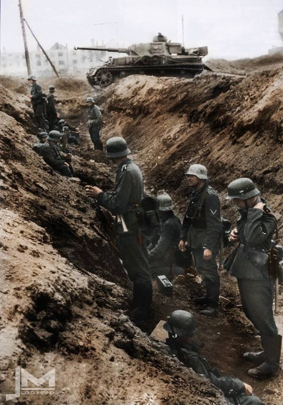 German tank ditch Color Photos World War II worldwartwo.filminspector.com