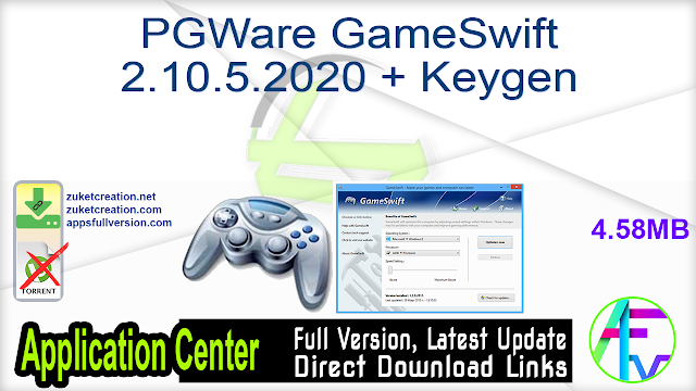 PGWare GameSwift 2.10.5.2020 + Keygen