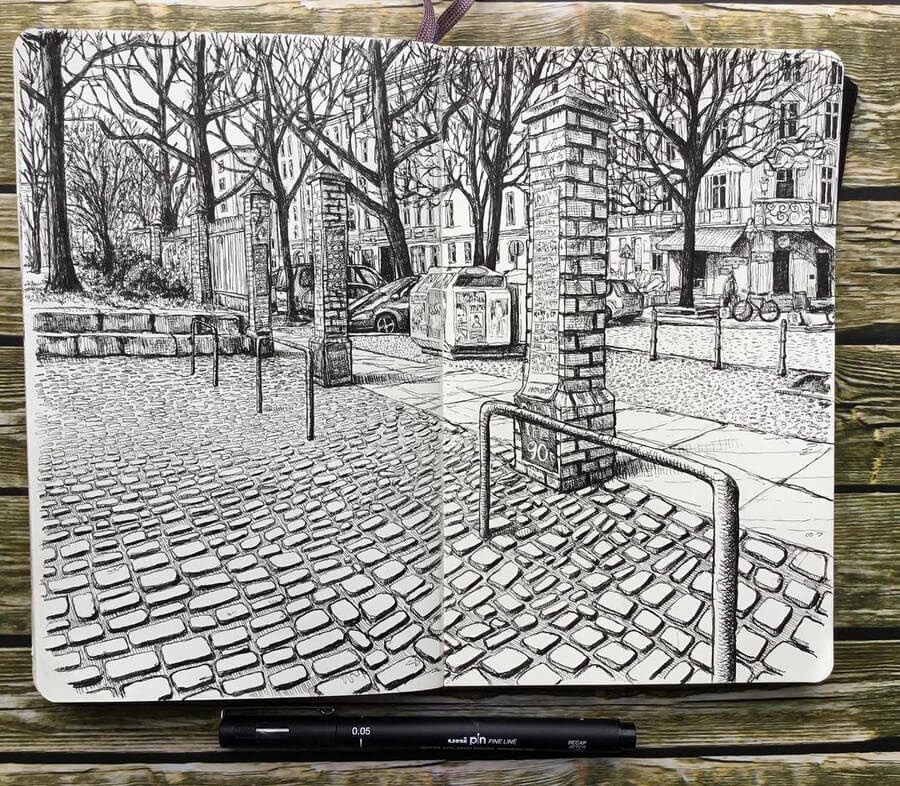 09-My-local-park-Keir-Ross-Urban-Travel-Sketcher-www-designstack-co