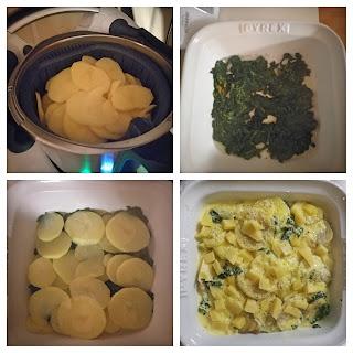 Sformato di patate e spinaci col Bimby