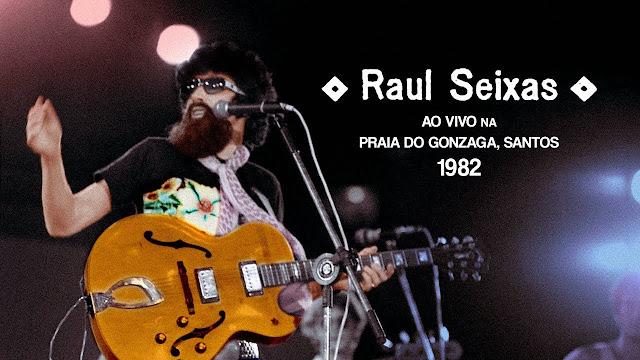 Raul Seixas na Praia do Gonzaga 1982
