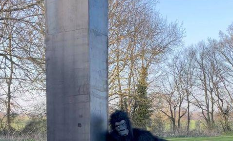 Aparece Monolito con un Simio en Inglaterra