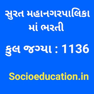 [MUNICIPAL RECRUITMENT] Surat Municipal Corporation(SMC) FHW & MPHW 1136 Posts Recruitment 2021