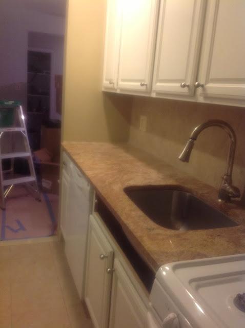removing kitchen sink cabinet false-front