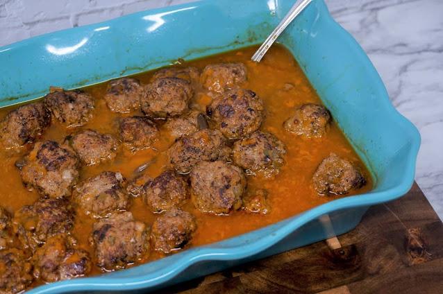 Homemade Meatballs In Mushroom Gravy