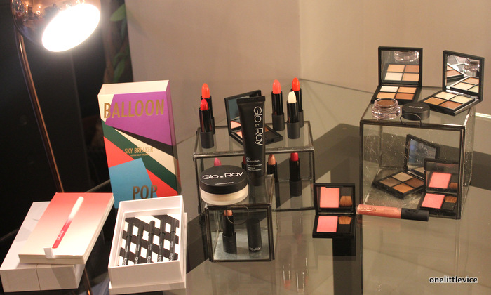 one little vice beauty blog: glo & ray makeup range display