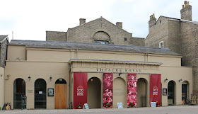 The entrance to the Theatre Royal, Bury St Edmunds