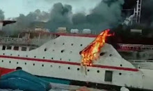 Kapal penumpang KM Karya Indah Diduga Terbakar di Perairan Pulau Limafatola