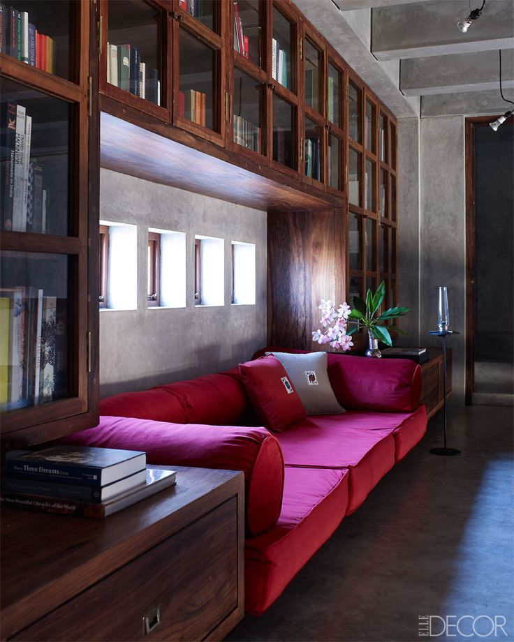 Drawing Room Sofa Designs India: Lunch & Latte: Space: A Contemporary Library In India