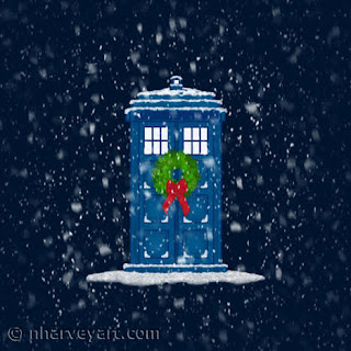 Police Box in Christmas Snow