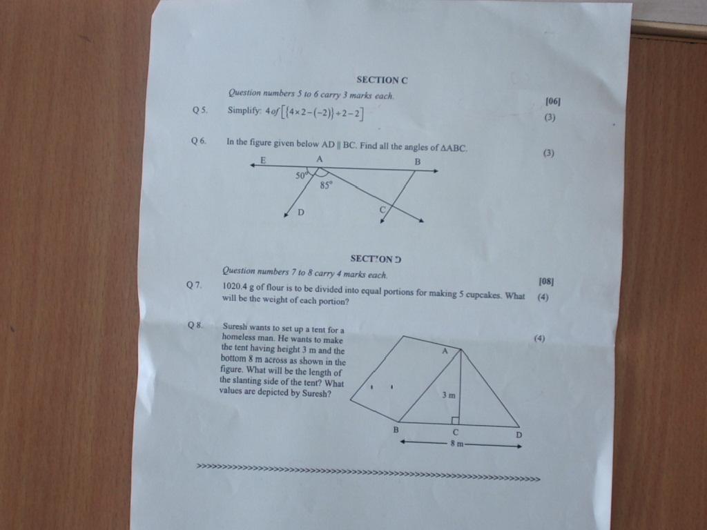 Maths Revision Worksheet Paper