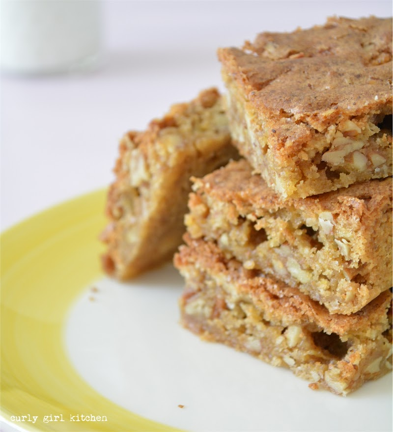 Salted Pecan Brown Butter Blondies, Cookies, Cookie Bars