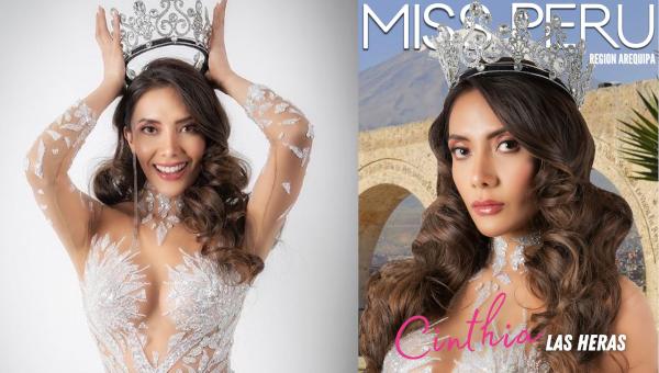 Cinthia Las Heras es Miss Perú Región Arequipa 2021