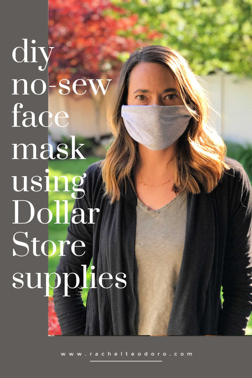 no sew face mask using dollar store supplies