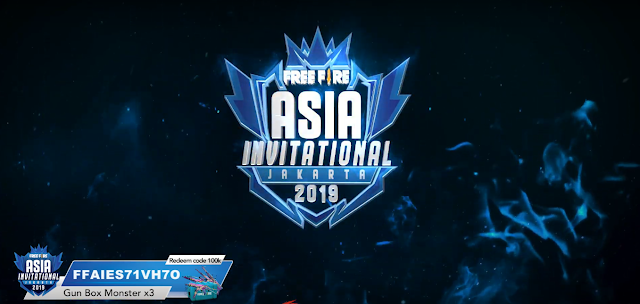 Kode Redem Free Fire Asia Invitational 2019