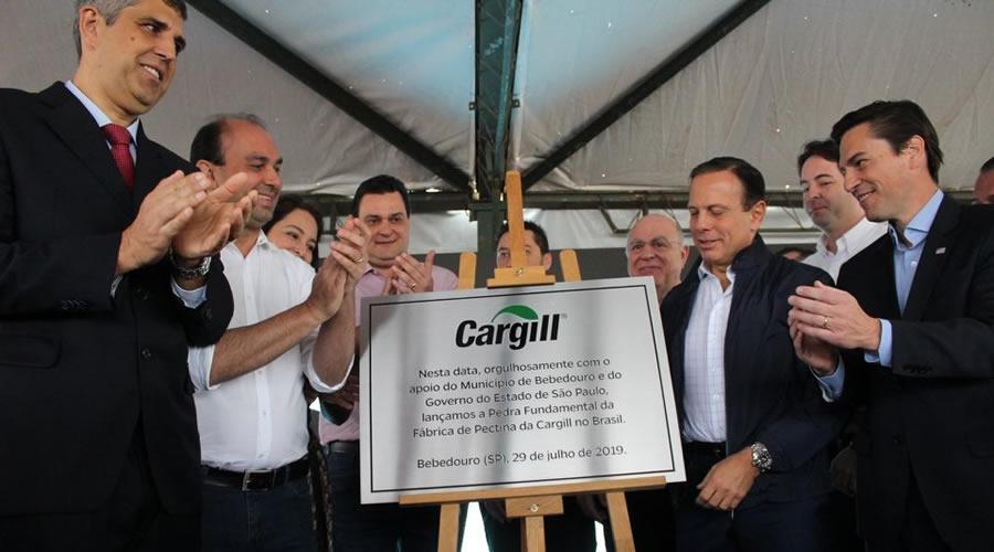 Pedra fundamental da Cargill é inaugurada em Bebedouro