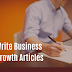 How to Write Business Growth Articles