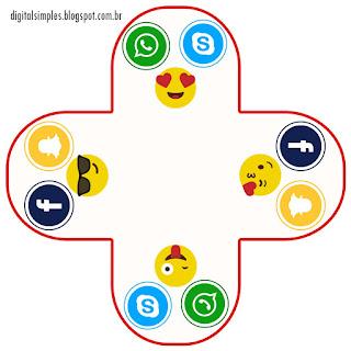 Social Media Party: Free Printable Boxes.