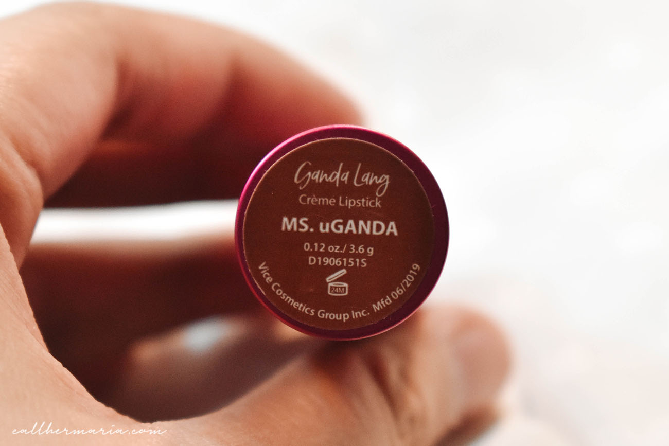 Vice Ganda Lang Creme Lipstick Review Ms uGanda Weight Expiration