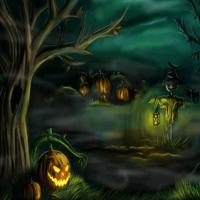HOG Halloween Silhouette Forest Escape