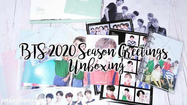 BTS 2020 Season Greetings Unboxing