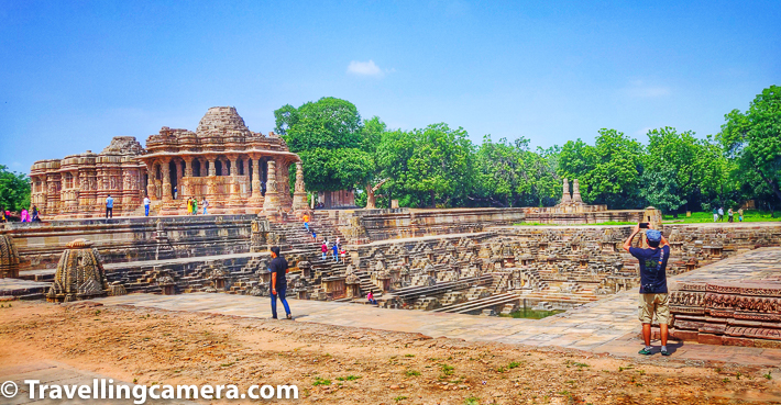 Let's talk about timings of Modhera Sun Temple in Gujrat along with knowing the best time to visit Sun Temple in Modhera town and it's famous Modhera Dance festival.     Modhera Sun Temple opens at 7am everyday and closes at 6pm.     Related Blogpost from Gujrat - One day Trip around Ahmedabad - Adalaj ni Vav, Modhera Sun Temple, Patan's Rani ni Vav & Gandhinagar