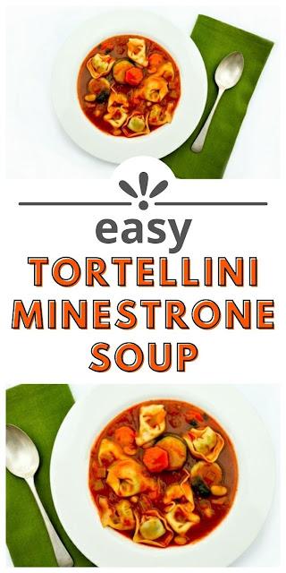 Easy tortellini minestrone soup