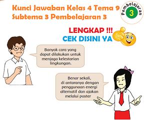 Lengkap Kunci Jawaban Kelas 4 Tema 9 Subtema 3 Pembelajaran 3 Jawaban Tematik Terbaru