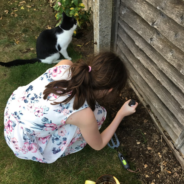 Stephs Two Girls sasha gardening