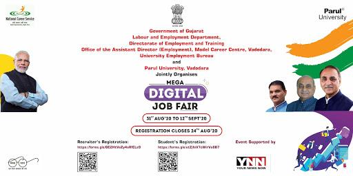Employment Office Vadodara Mega Digital Job Fair 2020 : Rojgar Bharati Melo 2020