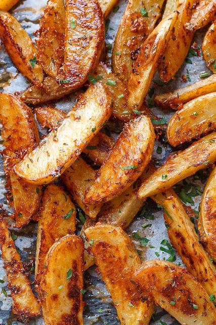 Extra Críspy Baked Garlíc Parmesan Potato Wedges